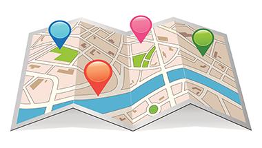 Mappa, itinerari, luoghi di interesse